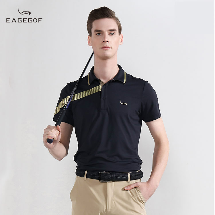 Eagegof new business mens short sleeve summer sports leisure Polo sweaty mens T-shirt