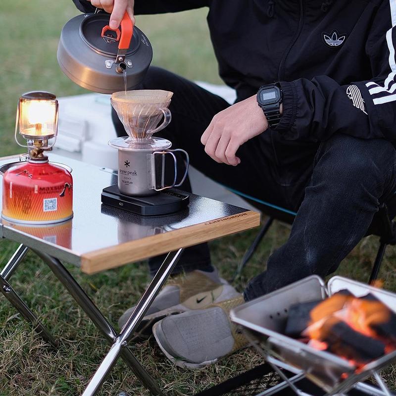 休闲小桌子折叠桌户外野餐露营烧烤桌便携小钢桌