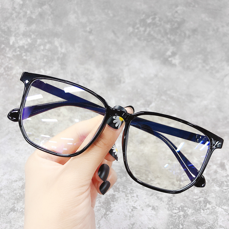 Anti radiation glasses for womens unlimited anti blue light eye protection can be equipped with lenses, short-sighted mens and Korean fashion plain face art frame