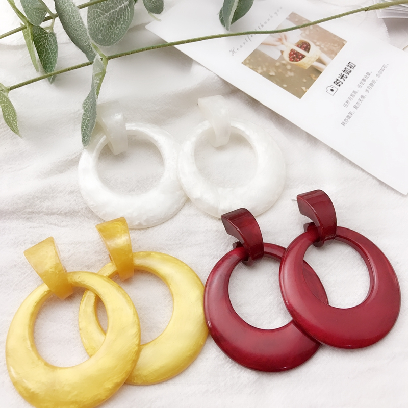Ab-274 fashion jewelry resin Design Earrings personality simple versatile fashion European and American style new