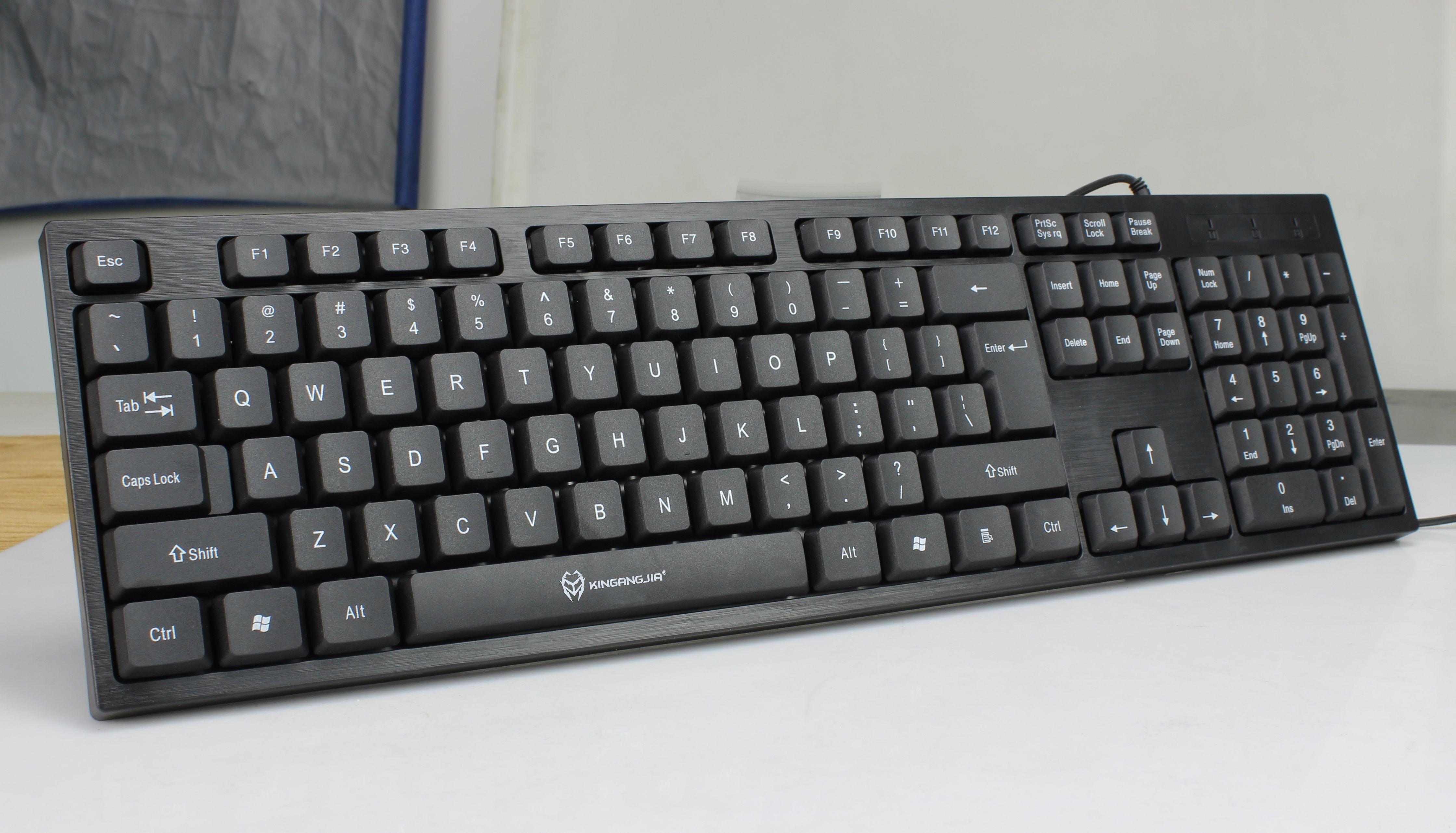 有线商务抖键盘防水音USB款USB2011鼠标办公套装同