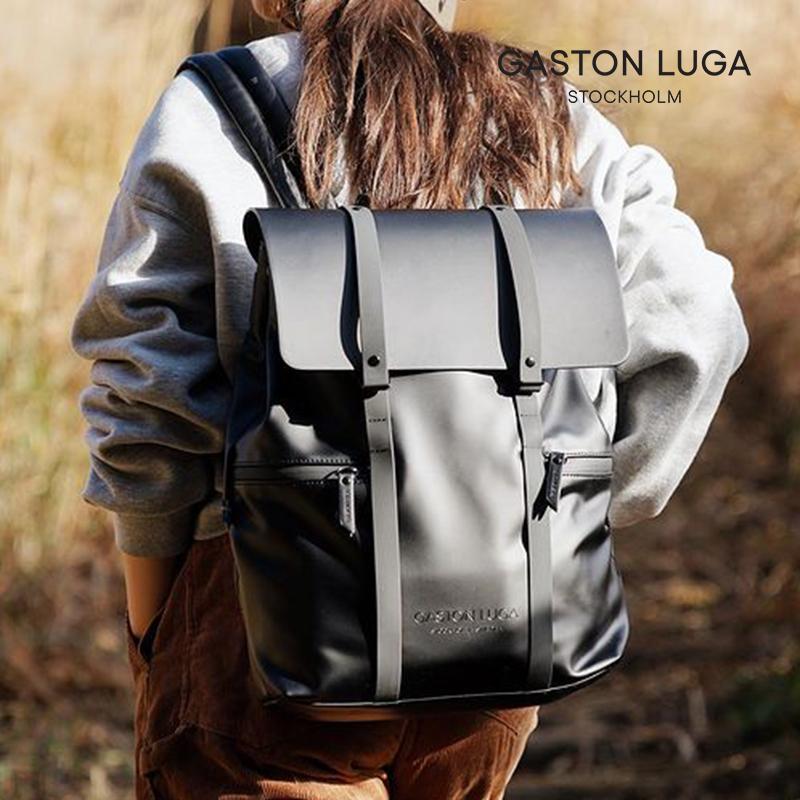 Gaston Luga电脑双肩包男皮大容量书包男时尚潮流百搭旅行背包女