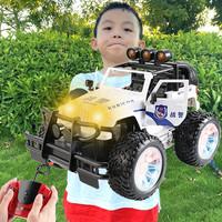 查看超大号儿童遥控汽车充电动越野车警车玩具高速漂移遥控车男孩赛车价格