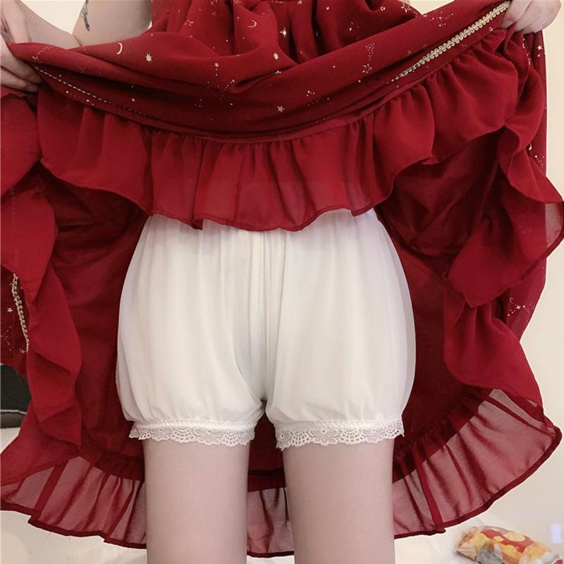 南瓜裤lolita夏季冰丝不卷边安全裤女防走光纯棉保险短裤jk打底裤