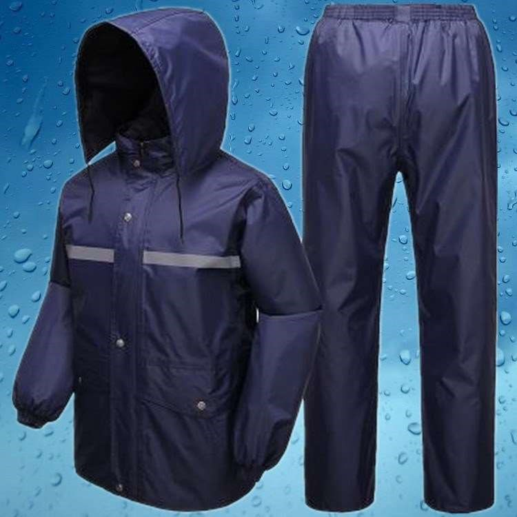 。 Mens raincoat and trousers split and thickened double layer motorcycle raincoat and trousers suit mens and womens split riding