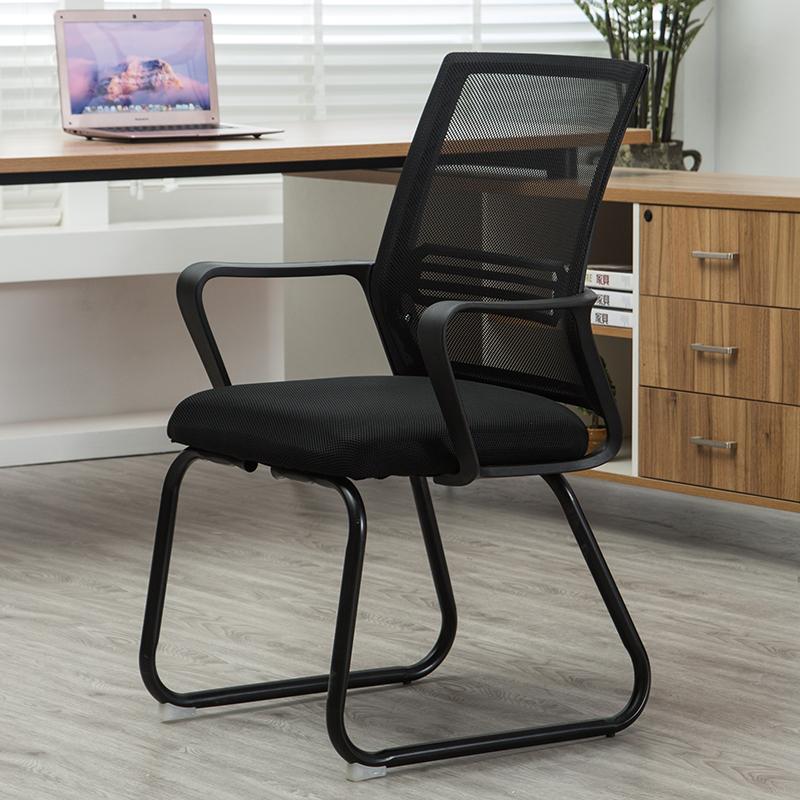 欧式工字形双层靠背职办公室椅子简约休闲员椅凳子舒适简易通用