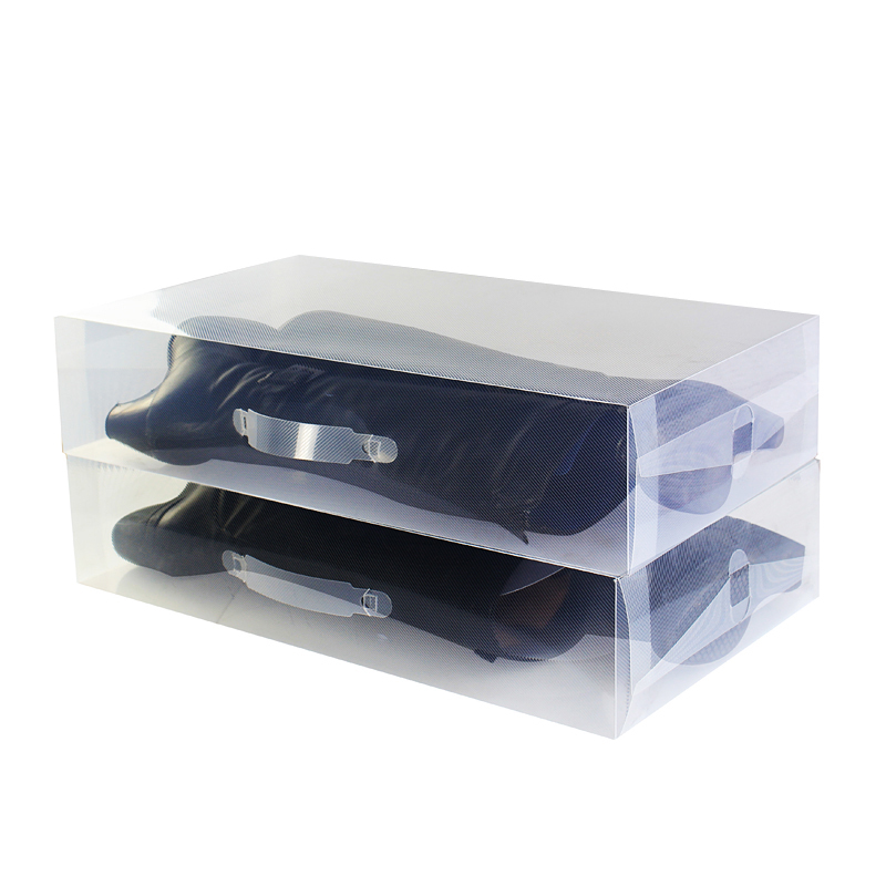 Plastic shoe box dustproof transparent large storage box over knee box long boots long and Short Boots Mens and womens shoes boots are large