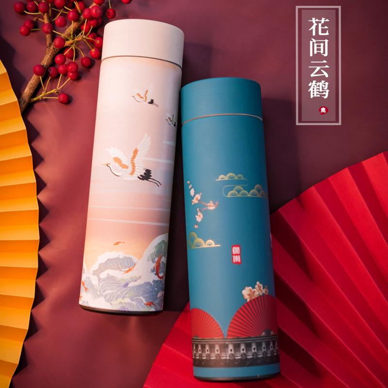 创意中国潮流风ins保温杯男女士学生便携智能文艺泡茶网水杯子