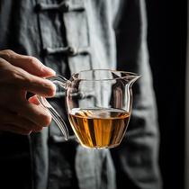 正品台湾禾器公道杯升级款翊口大号耐热玻璃公杯手工茶海分茶器