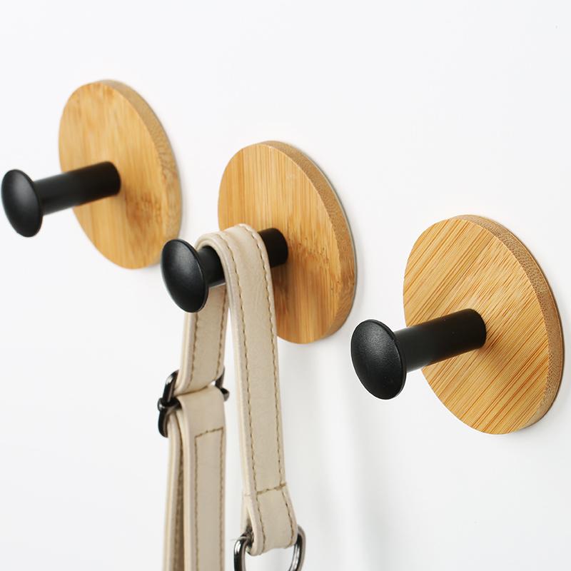 挂钩强力粘胶无痕贴墙壁挂衣服衣帽钩厨房勾子门后钥匙免打孔粘钩