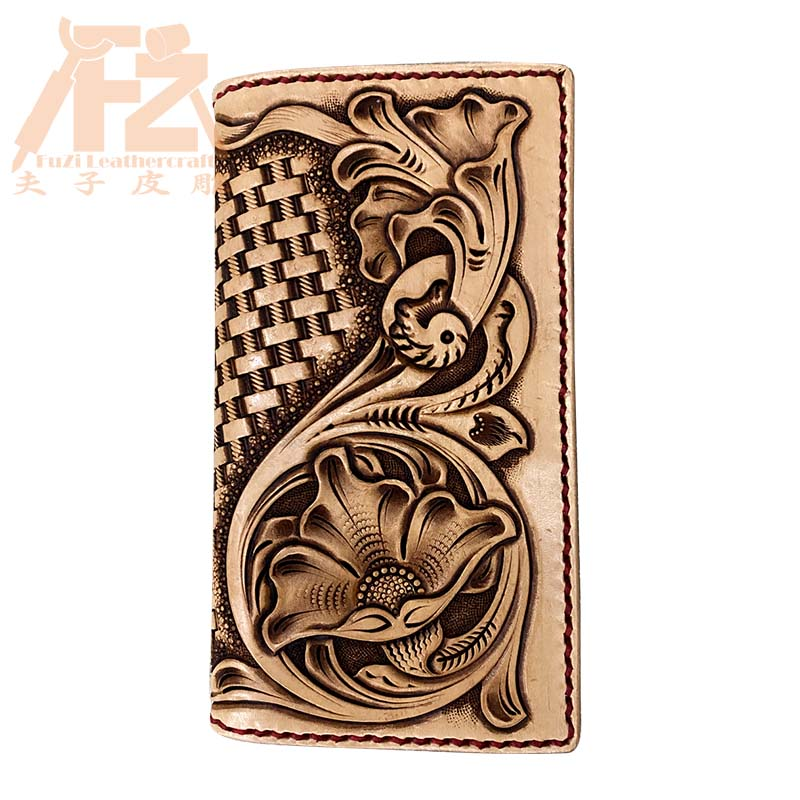 Manual leather carving wallet card bag material bag [leather only, no tools]