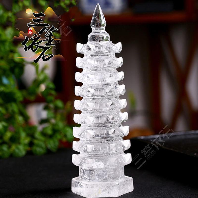 天然文昌塔居家摆件旺事业白水晶质量怎么样