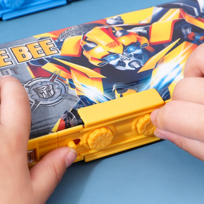 变形金刚儿童密码锁文具盒男小学生一二三年级幼儿园大容量耐摔抖音网红创意智能自动多功能变形铅笔盒男童