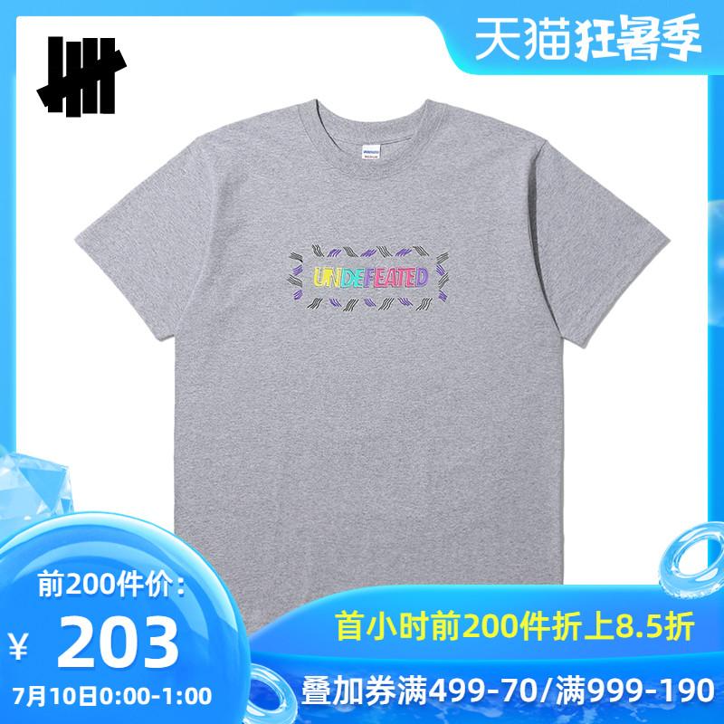 UNDEFEATED男装春夏彩色字母印花多色潮流短袖T恤80077MDC