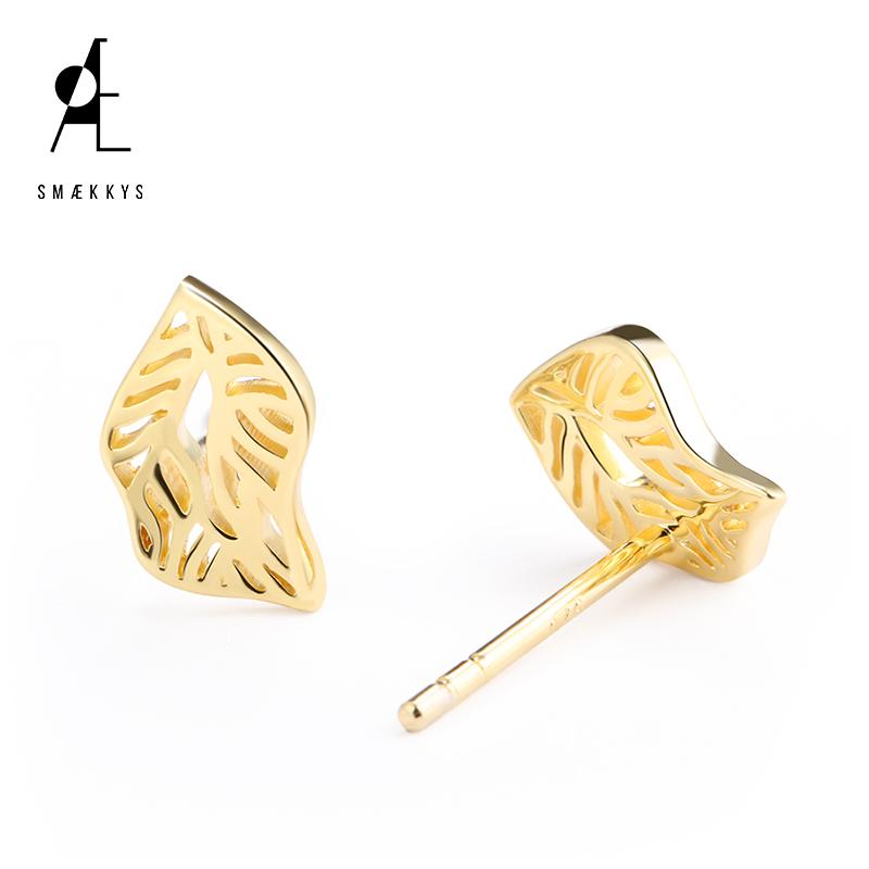 Smaekkys Meikesi Qiusi 925 Sterling Silver Gold Earrings cool fashion temperament personalized Earrings female