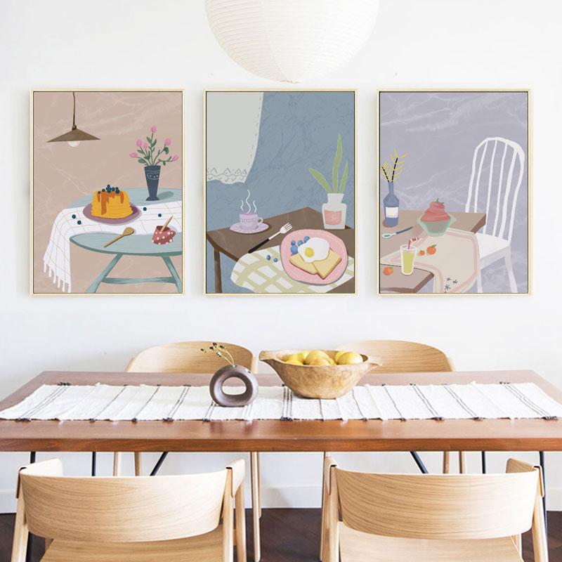 北欧风餐厅ins个性创意墙面装饰画
