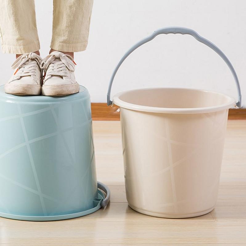 塑料手提水桶家用加厚大号桶洗拖把桶洗澡塑料桶储水小圆桶洗衣桶