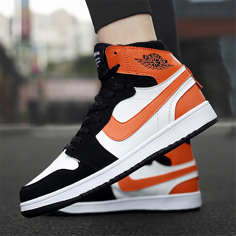 AJ mens shoes genuine spring and autumn high tide shoes air force No.1 versatile board shoes middle school basketball leisure sports shoes
