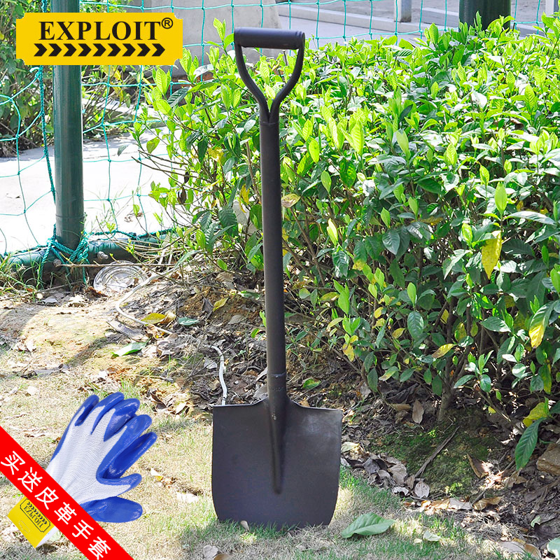 Марганцевая сталь Многофункциональная сельскохозяйственная лопата Цельная лопата / боковая лопата Бытовая озеленение Лопата для выгула на открытом воздухе 111701