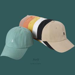 纯色字母刺绣棒球帽