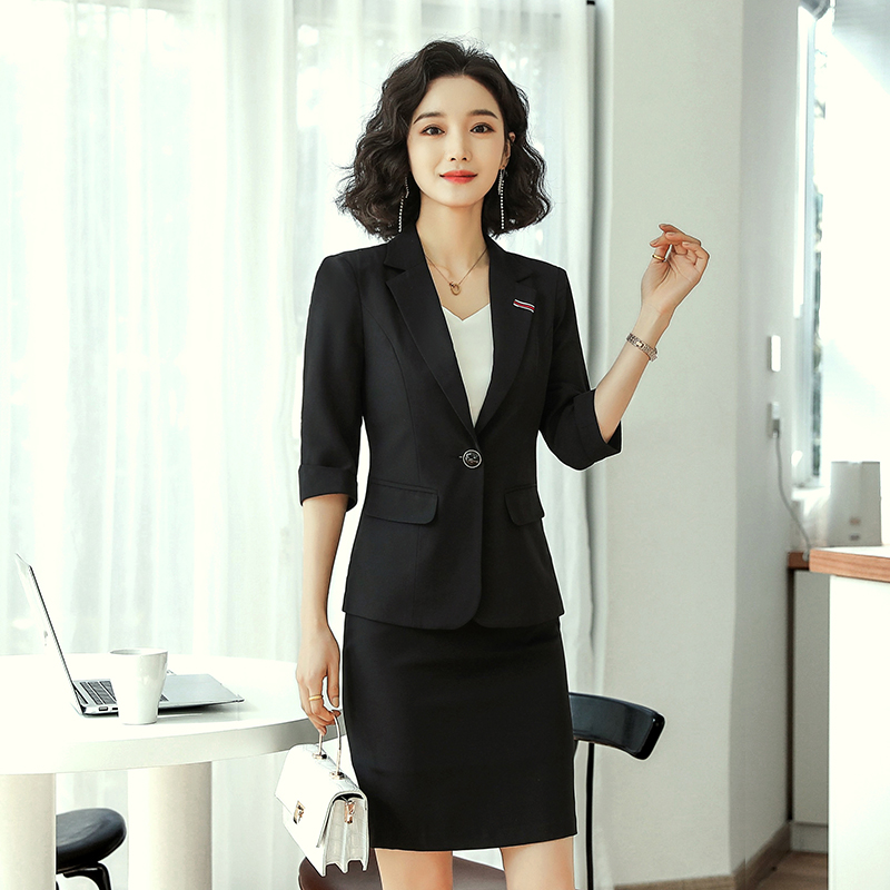 Niche short temperament slim suit 2021 spring and summer new casual suit professional suit women