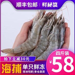 大虾鲜活速冻超大海鲜水产青虾非青岛大虾鲜虾基围虾特大冷冻整箱图片