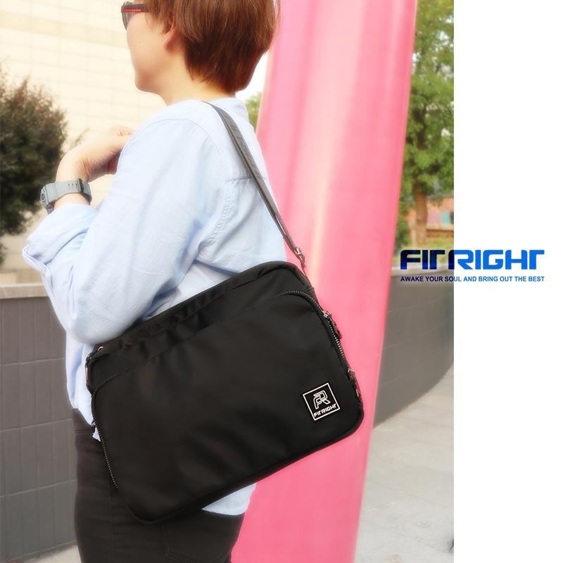Fit right fashion briefcase side backpack one shoulder slant case water splashing tablet case business case
