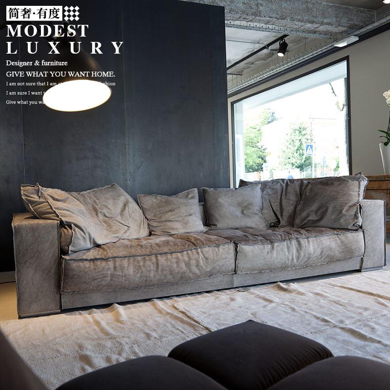 简奢 baxter意式极简进口头层真牛皮北欧简约卧室客厅小户型沙发