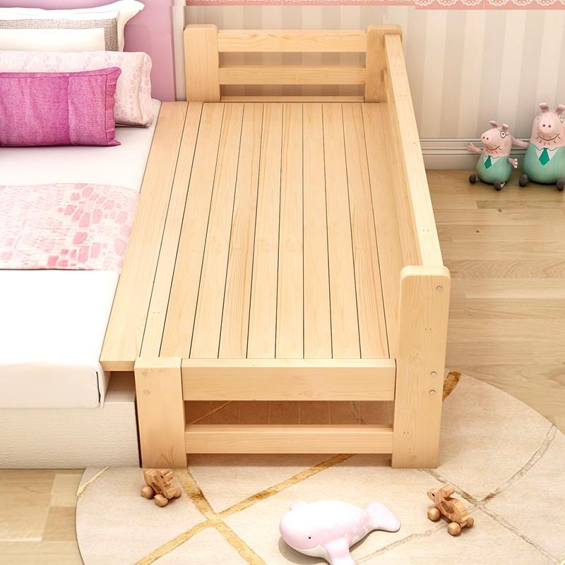拼接平接床加宽床大人边儿童床大床实木带护栏男孩分床婴儿床