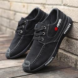 男士休闲鞋帆布鞋春秋老北京布鞋男韩版软底工作鞋透气板鞋帆布鞋