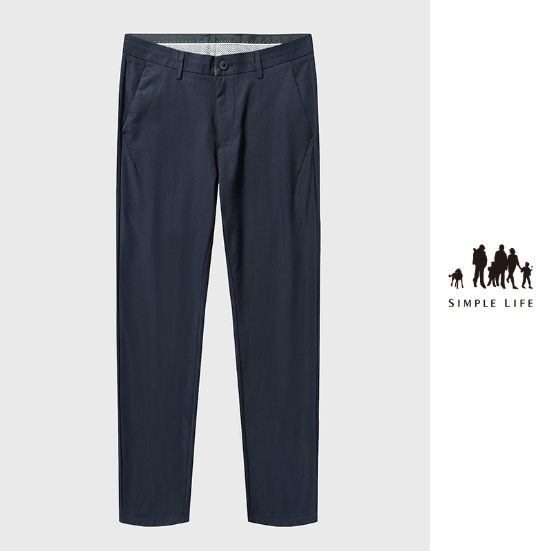 Pants mens straight tube loose fit suit pants mens casual pants 2020 spring and autumn trousers summer thin trousers