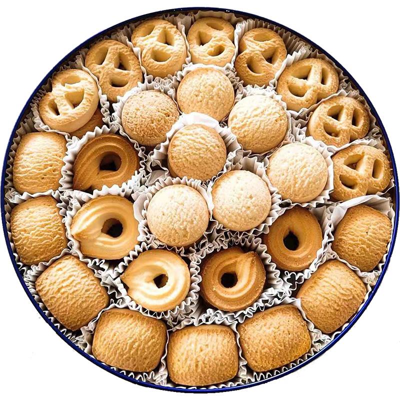 曲奇饼干网红零食散装多口味整箱礼盒装小包批发结婚铁盒红罐