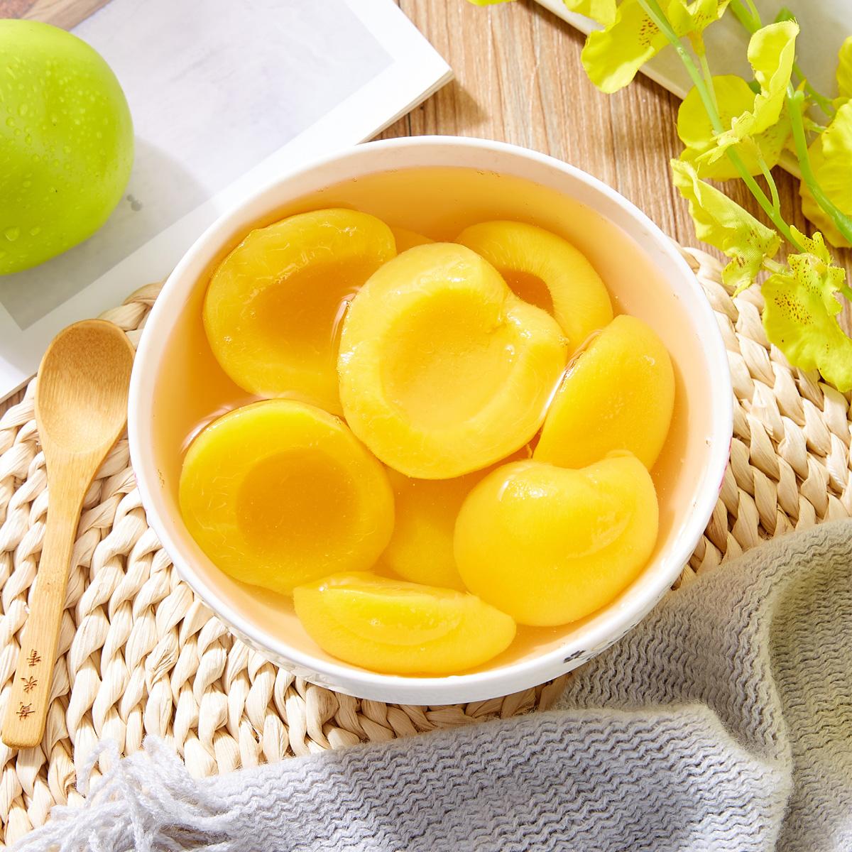 官方正品糖水黄桃罐头425g克罐整箱新鲜水果罐头即食零食罐头包邮