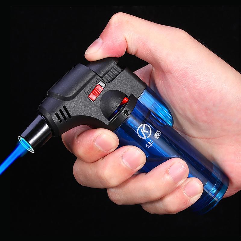 防风打火机雪茄点火器点香点艾灸艾条专用神器直冲可充气焊枪喷枪 Изображение 1