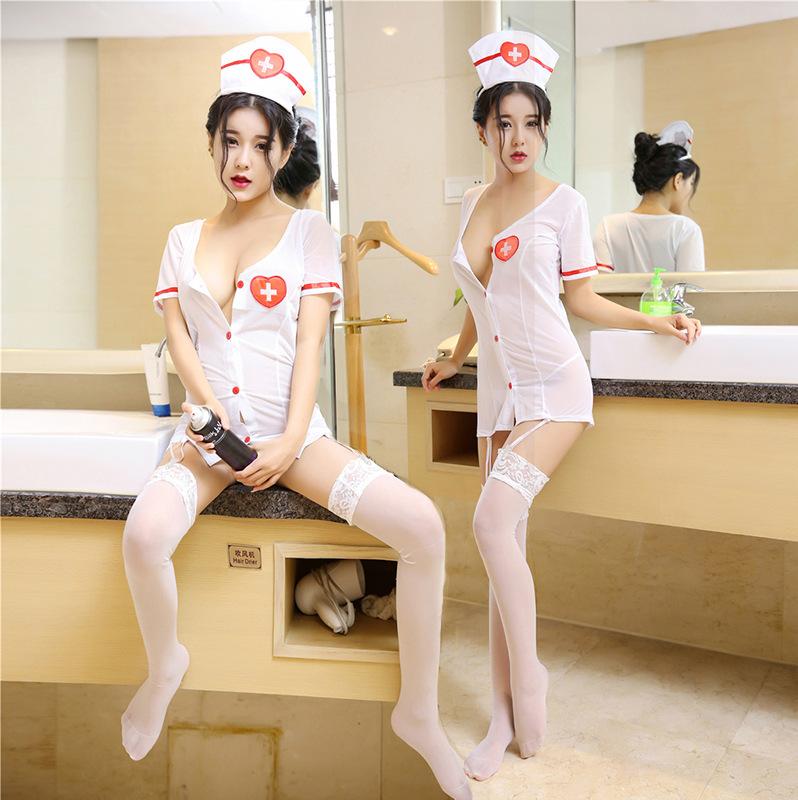 Hsen do your cat role play sexy nurse uniform suit pure adult interest