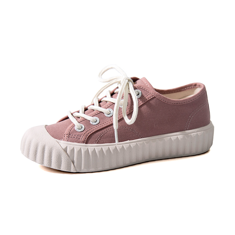 Leap forward canvas shoes for women 2020 new summer thick bottom muffin shoes for women fashion ins fashion all-around student biscuit shoes