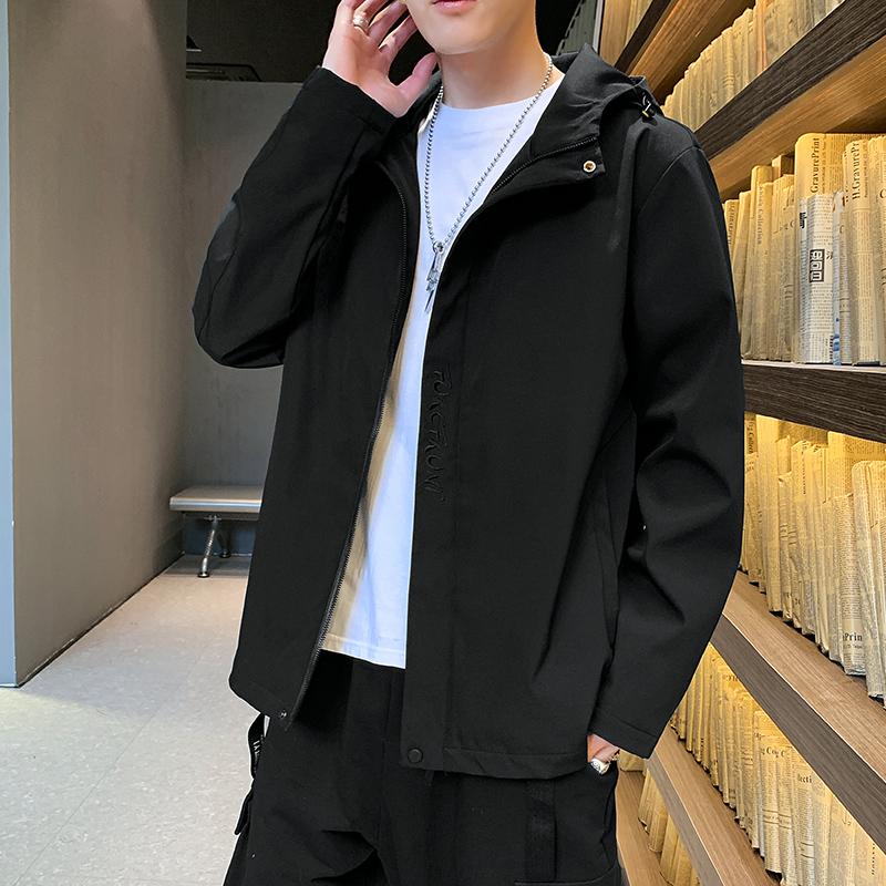 秋装外套男2020年新款韩版潮流成熟稳重春秋冬季上衣男装休闲夹克