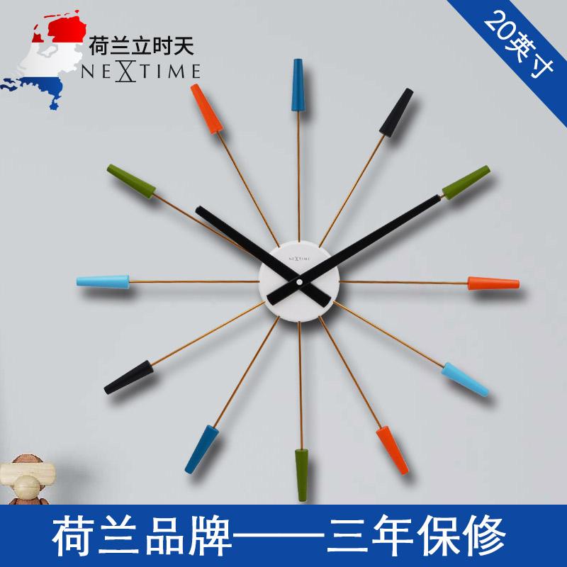 荷兰NeXtime客厅钟表挂钟创意时尚欧式个性特色时钟潮流艺术挂表 Изображение 1