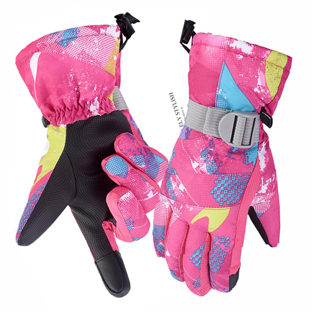 Ski gloves womens winter Plush warm gloves mens waterproof riding motorcycle gloves mens touch screen gloves
