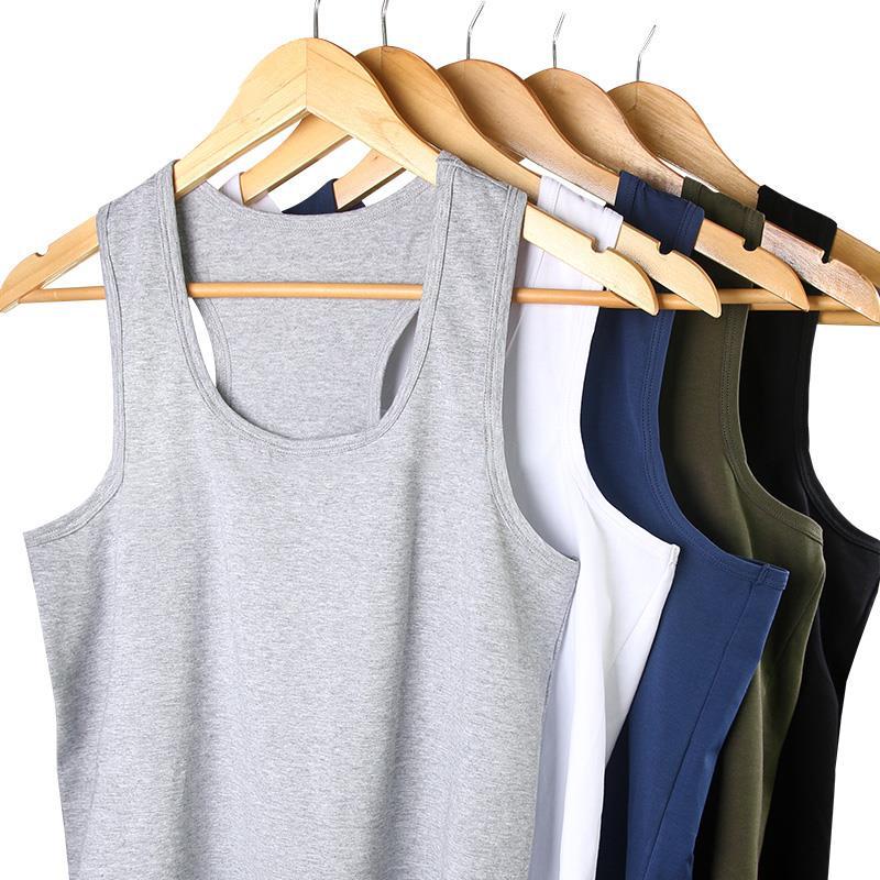 男士背心棉质透气修身型青年运动打底跨栏工字宽松夏季潮吊带汗衫