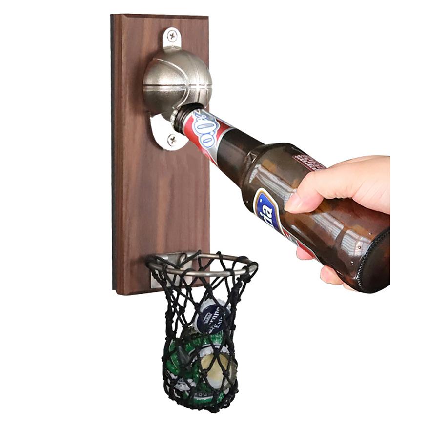 抖音网红壁挂篮球磁吸冰箱贴启瓶器