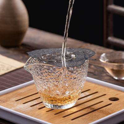 玻璃公道杯茶漏一体茶架加厚倒茶分茶器耐热公杯日式锤纹茶具套装