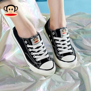 大嘴猴帆布鞋女低帮2020百搭布鞋潮流男鞋情侣款鞋子透气板鞋女鞋价格