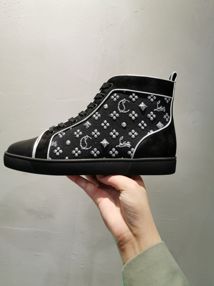 Christian Louboutin high top canvas shoes