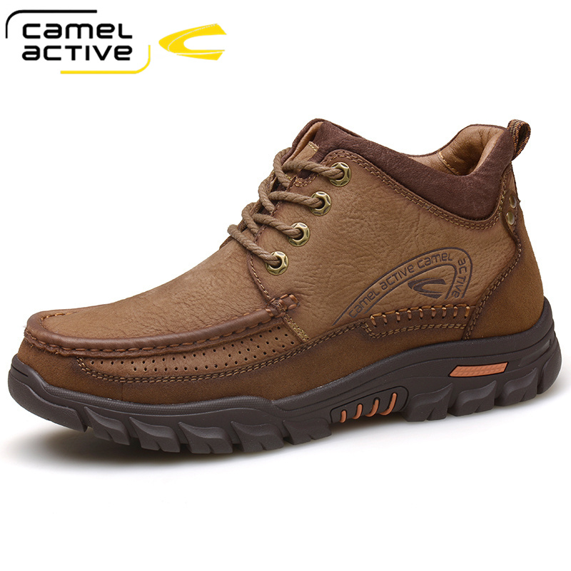 Camel active mens shoes high top cotton shoes wool Plush warm snow boots winter mens outdoor casual shoes