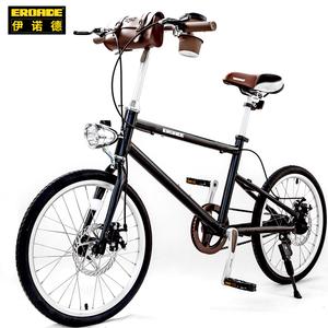德国EROADE复古自行车女轻便时尚上班单车学生变速城市通勤车20寸
