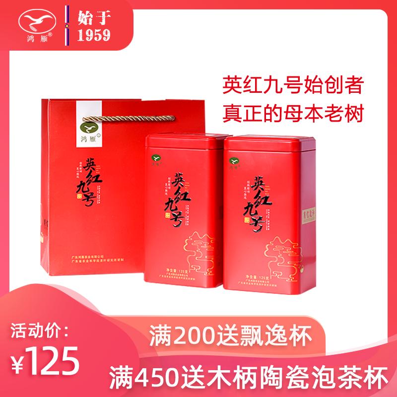 克单罐125鸿雁茶叶正宗英德红茶英红九号人气口粮茶广东特产罐装