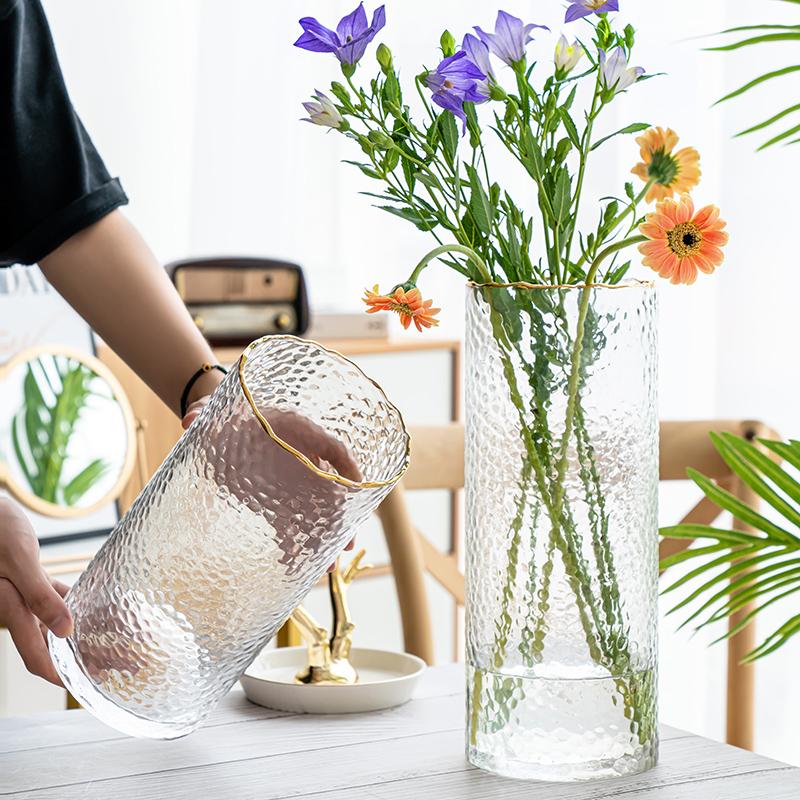 北欧轻奢ins波纹口玻璃透明花瓶值得买吗
