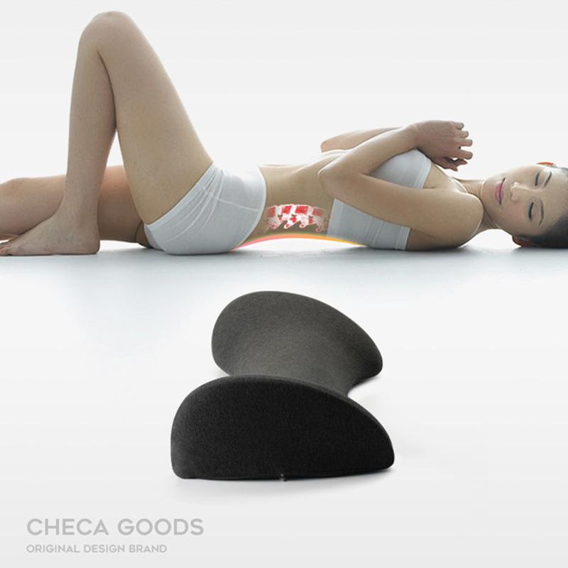 腰间盘突出睡觉腰垫靠垫曲度按摩器