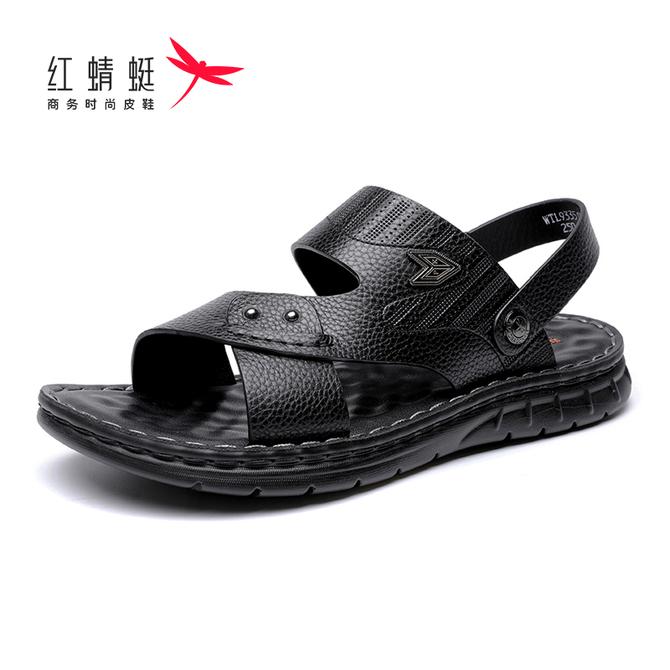 软底舒适凉 拖鞋 新 2020夏季 男士 户外休闲两穿沙滩鞋 款 红蜻蜓男 凉鞋